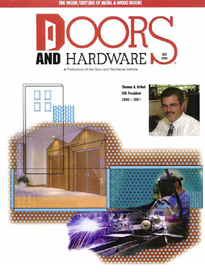 Doors and Hardware Magazine - October, 2000